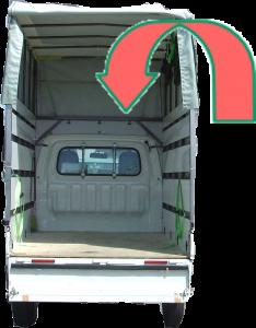 引越し仕様赤帽車積載可能家財の量